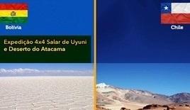 Expedição 4x4 Salar de Uyuni - Bolivia - Deserto do Atacama - Chile - 18 de Novembro a 01 de Dezembro de 2018