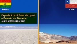 Expedição 4x4 Salar de Uyuni - Bolivia - Deserto do Atacama - Chile - 05 a 19 de Fevereiro de 2017