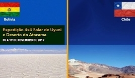 Expedição 4x4 Salar de Uyuni - Bolivia - Deserto do Atacama - Chile - 03 a 17 de Setembro de 2017